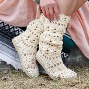 Coachella Crochet Boots