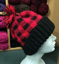 Buffalo Plaid Crochet Hat