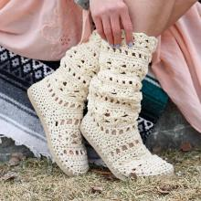 Crochet Coachella Boots